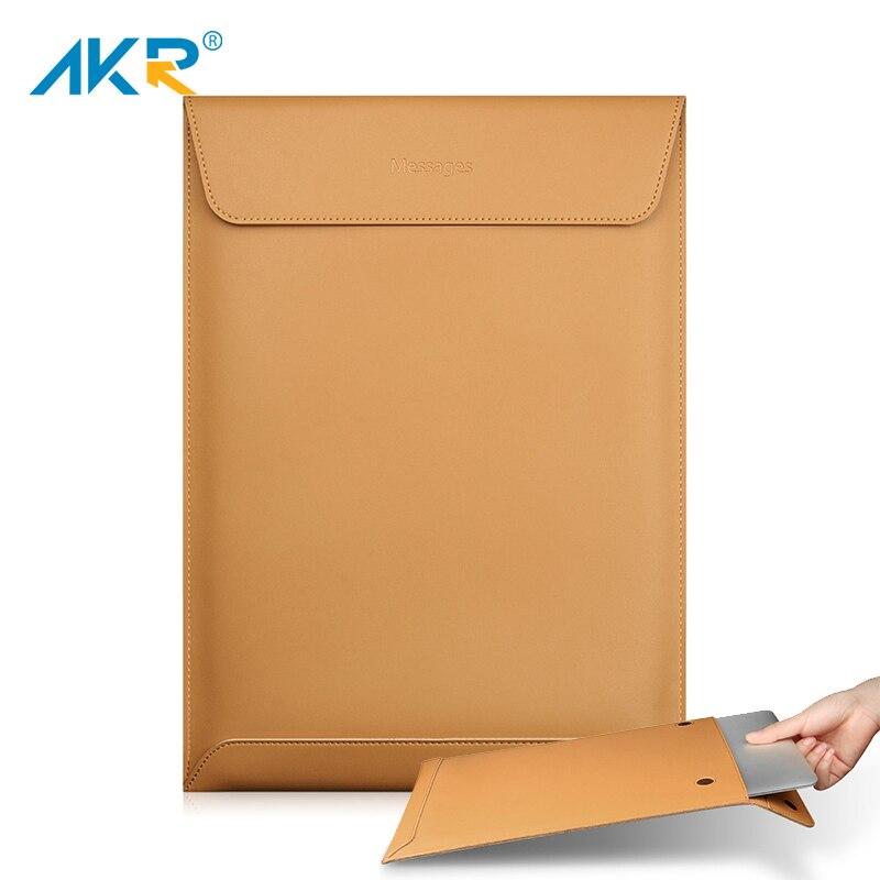 78c8487e574 Laptop Case for Macbook Air 13 Pro Retina 11 12 15 2016 2017 New Fashion  High quality Soft Split Leather Sleeve bag 2018