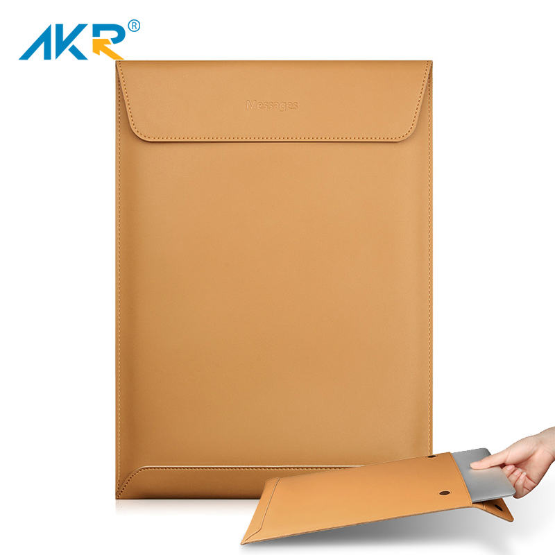 Laptop Case for Macbook Air 13 Pro Retina 11 12 15 2016 2017 New Fashion High quality Soft Split Leather Sleeve bag 2018 image