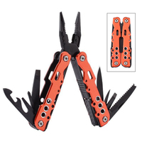 Multi functional Combination Plier Tool Kit Outdoor Camping Nylon Pouch EDC Stainless Steel Survival Knife Folding Plier Tools