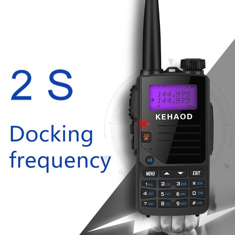 Кан Длинные Dual Band Авто матч частота портативная рация Портативный двусторонней радио VHF136-174MHZ UHF400-480MHZ