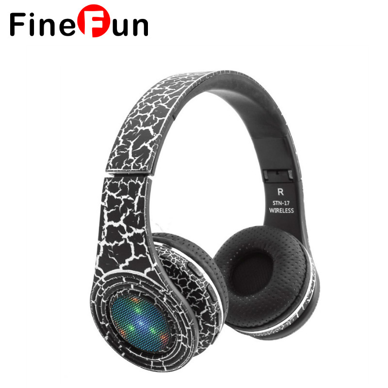 Original KUBITE STN-17 Bluetooth 4.1 Headphone Wireless Headband Earphone Hands Free Music With LED MF/TF for all Smartphone epgate d00280 hands free bluetooth v4 0 music earphone orange