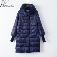 2018 new Large Size black Wadded Autumn Winter Jackets Women Cotton Long Padded Coat Outwear Warm Chaquetas Parka Feminina