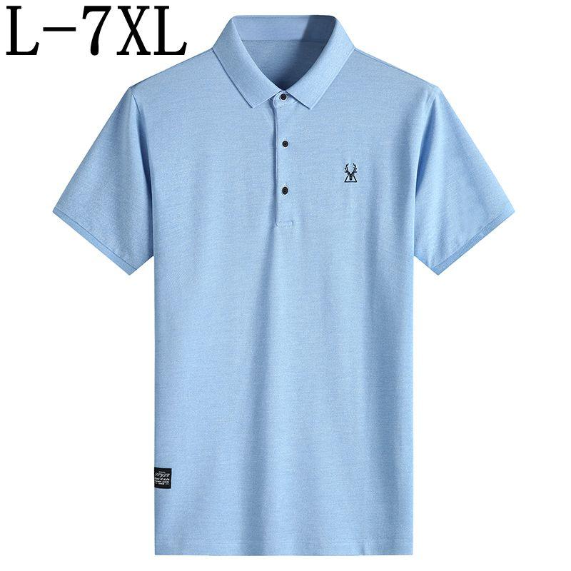 2019 New Summer Printed Polo Shirt Men Hip Hop Mens Polo Shirt With Deer Short Sleeve Top Quality Polos Plus Size 5XL 6XL 7XL