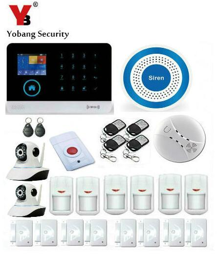 YoBang Security 3G WIFI Home Office Security Alarm System WCDMA/CDMA Wireless IP Camera PIR Motion Detector Smoke Alert System