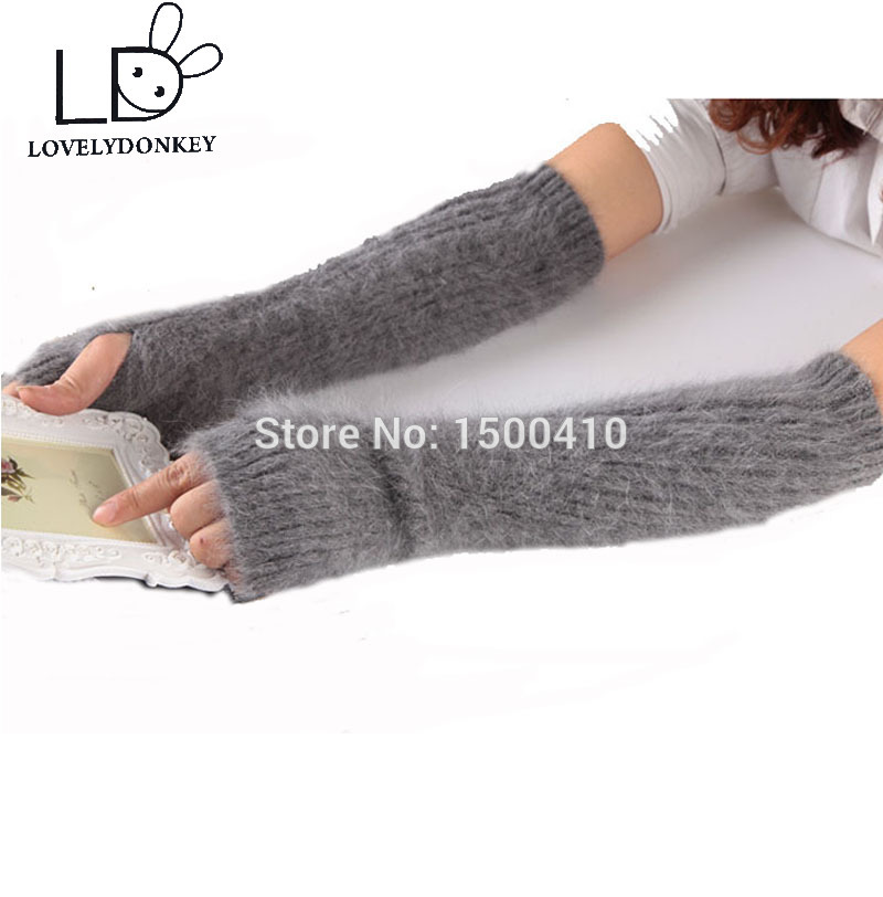 LOVELYDONKEYMink cashmere gloves women general Double layer thickening free shipping M697