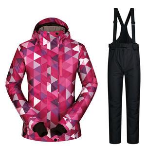 And Pants 2017 Ski Suits Set Warm Waterproof Windproof Winter Dress b39558f5d