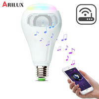 ARILUX Smart WiFi APP Control LED Light Bulb E27 12W RGB+W+WW Smart LED Bulb Speaker Work With Alexa AC110 240V