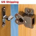 Envios ee . uu . 10 unids doble rodillo de la puerta placa de bronce latch capturas armario gabinete de cocina armario