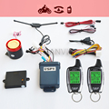 High Quality Original SPY 5000m Two Way Anti - theft Motorcycle Alarm With 2 rechargeable LCD Transmitters Remote Engine Start