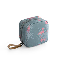 1 pc Mini Solid Color Flamingo Cosmetic Bag