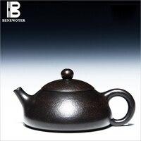 200 ml Xi Shi סיר תה חול סגול חול זהב שחור יו Ru סיר Yixing עפרות קומקום תה קונג פו בעבודת יד מלא סט 188 חורים קומקום