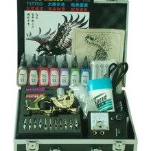 A022 Профессиональный Полный комплект татуировок стартовый набор боди-арт набор, 2 машинки