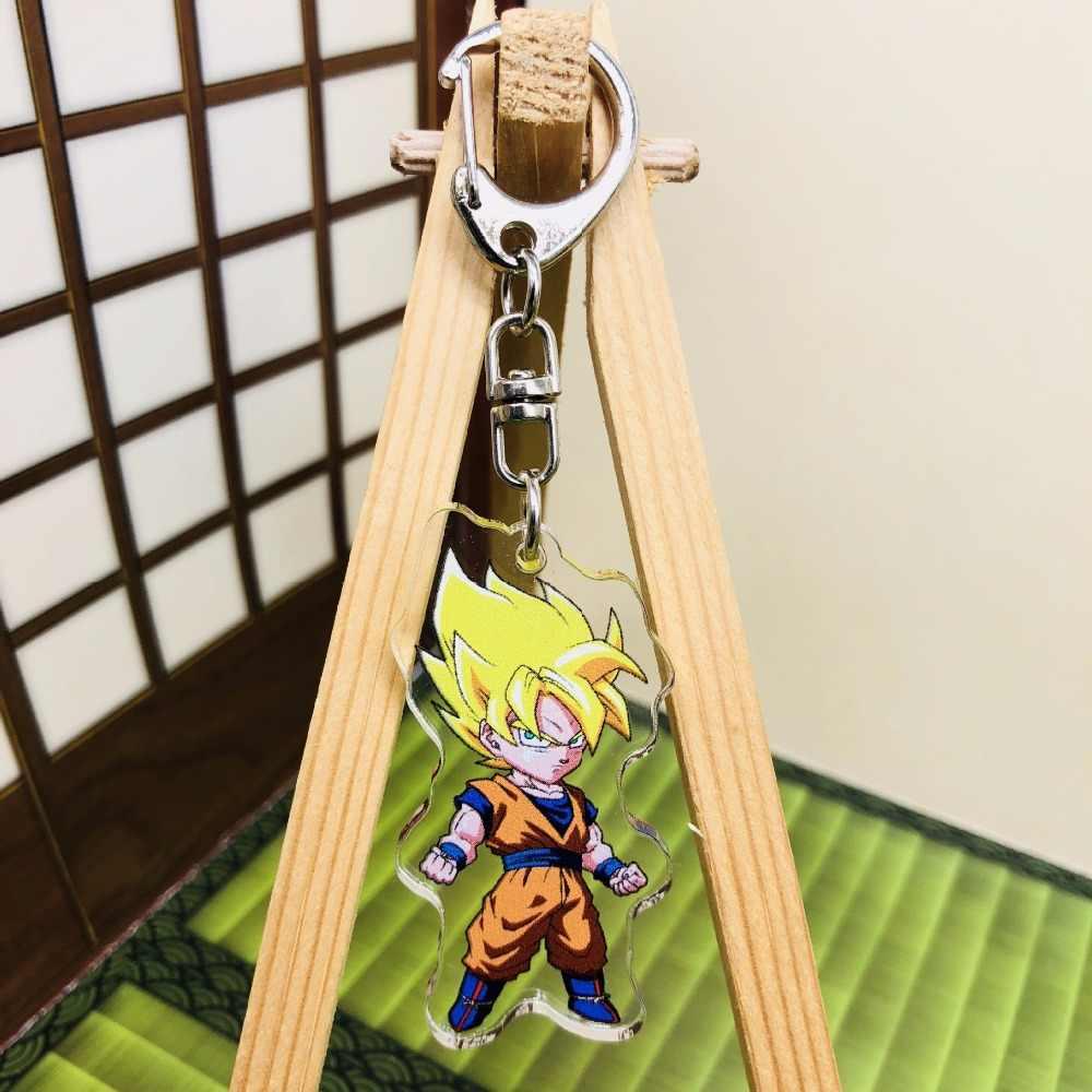 Dragon ball son goku freeza juguetes pvc pingentes figura de ação collectible brinquedos modelo boneca crianças chaveiro brinquedos