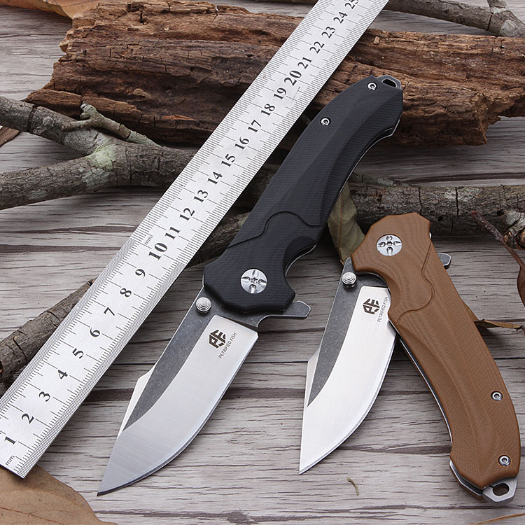 Petrified fish PF715 blade AUS-8 outdoor knife Ball Bearing tumbling folding knife G10 tactical knife Utility Pocket knife king double krn a5t 5 zirconia ceramic utility knife w sheath red white