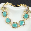 jiayi jiaduo 4 color Turkey Bracelet For Women Tibetan Alloy Agate Red Resin Plating Gold Bangle Retro  Roman Royal Jewelry