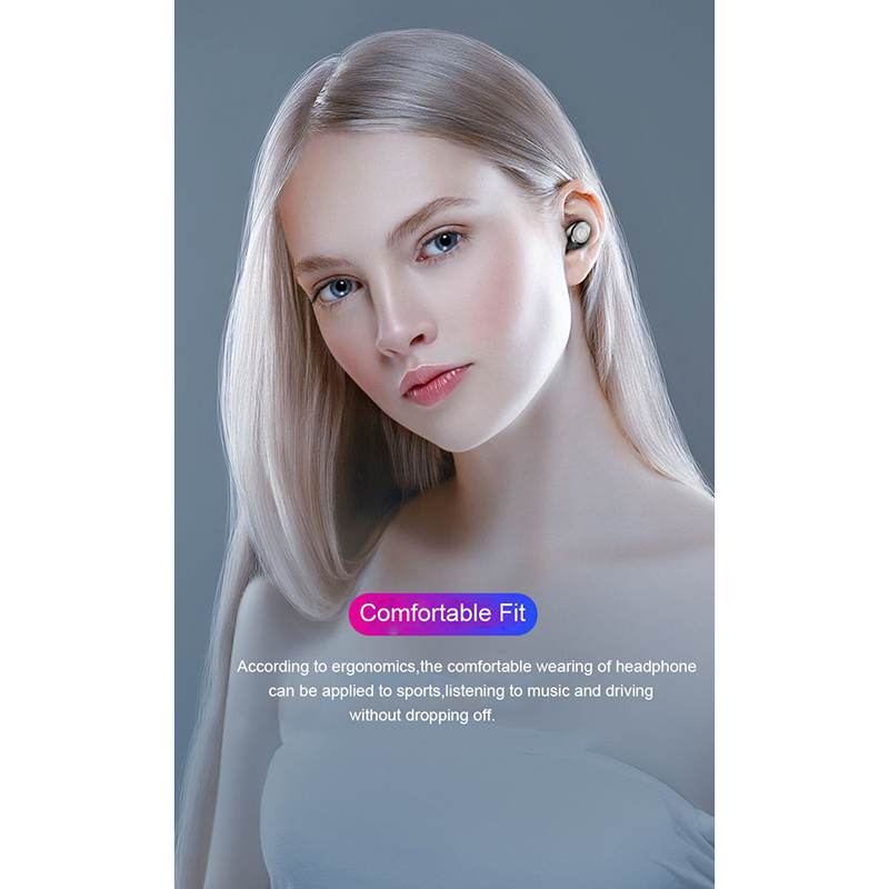 NEW TWS V5 0 Bluetooth Headset Wireless Head Phones For Android Mobile Phone Tablet PC Running Sports 2019 Top in Bluetooth Earphones Headphones from Consumer Electronics