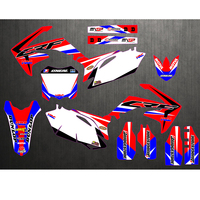 Motorcycle New Team Graphics Background Decal Sticker Kit For Honda CRF250 CRF250R CRF450 CRF450R CRF 250 450 2010 2011 2012
