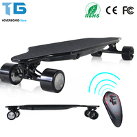Double Drive Electric Skateboard Wireless Remote Control 2x300W Motors 4 Wheels Dual Drive Electric Scooter Longboard 36V 4.4Ah