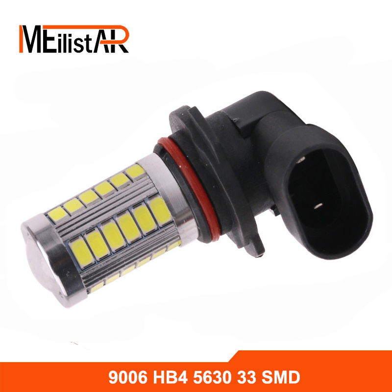1x Car led HB4 9006 33 LED 5630 SMD White Car Auto Light Source Fog DRL Daytime Running Driving Lamp Bulb Daytime Running Light 2pcs lot 9006 hb4 12 smd 5630 1 cree led daytime running brake light fog light head lamp white blue red