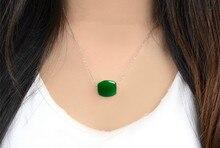 High Quality Green Stone Pendant Necklace Passepartout bead Pendant DIY Accessories Women's Fashion Jewelry