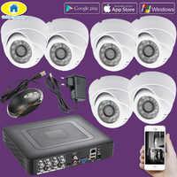 D'or de Sécurité 8CH 264.H CCTV DVR Système de Sécurité de Surveillance, 720 P AHD Caméra, Jour/nuit IR Cut nuit Vision CCTV Système