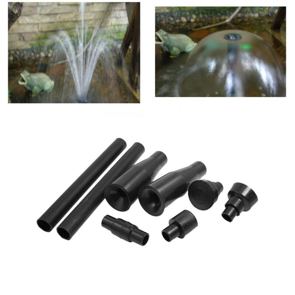 8pcs Fountain Pump Nozzle Set Multifunction Plastic Waterfall Garden Spray Heads For Pool Pond Fountain Submersible Pump