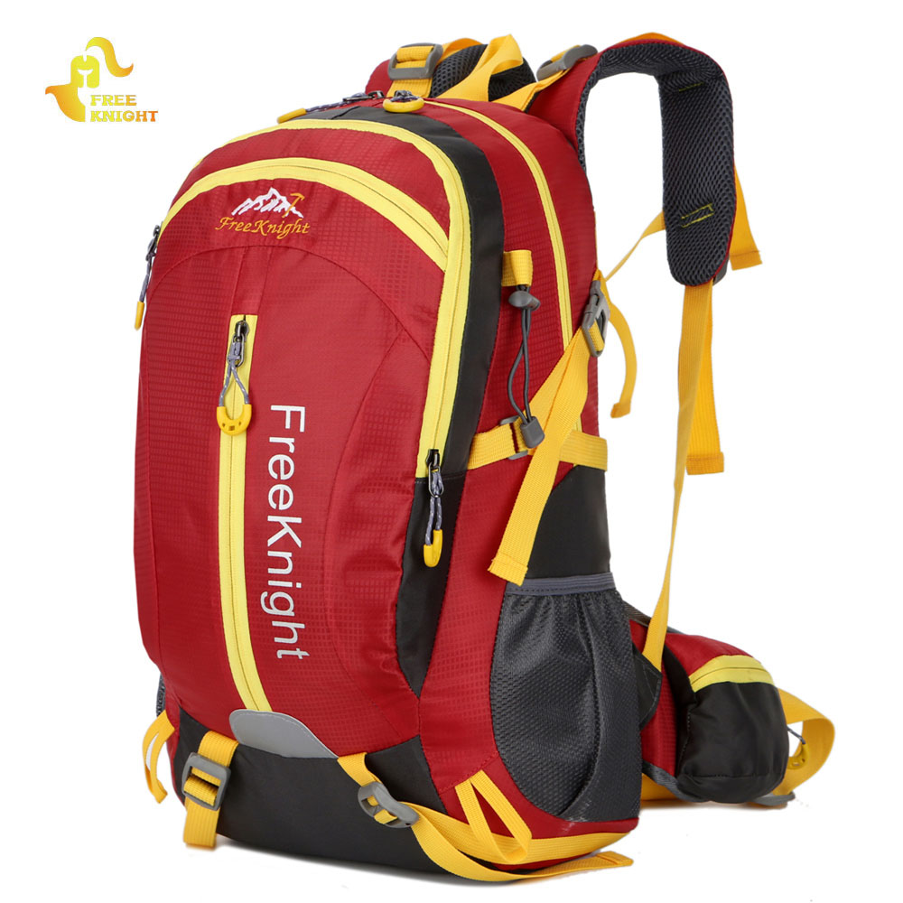 Free Knight 30L Nylon Water Resistant Hiking Backpack Mountaineering Camping Bag Outdoor Sport Large Travel Climbing Backpack outad 60 5l outdoor water resistant nylon sport backpack hiking bag camping travel pack mountaineer climbing sightseeing hike