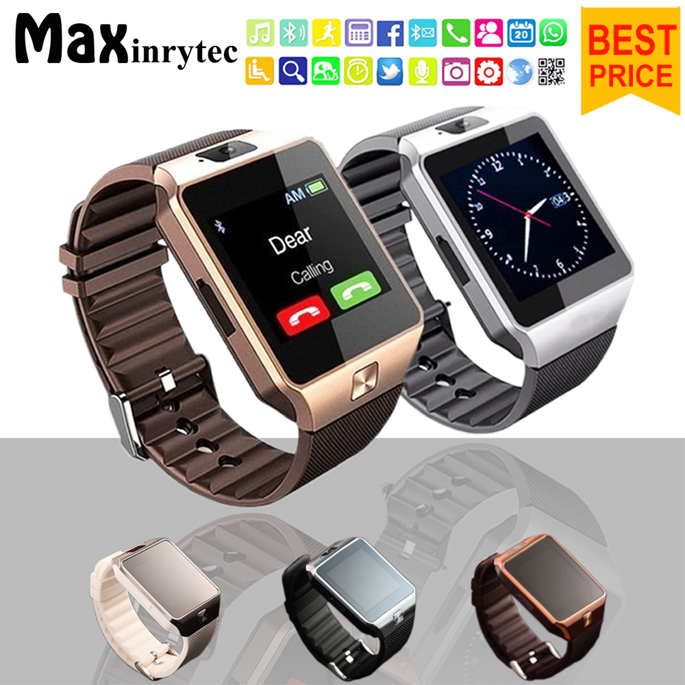 Maxinrytec Smart Watch DZ09 Support TF Sim Camera Men Sport Wristwatch For IOS Android Phone PK