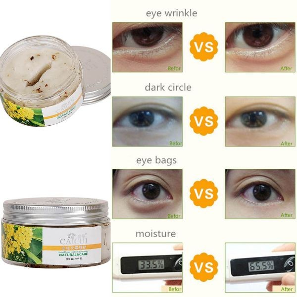 40pcs/bottle Golden Osmanthus Eye Mask Care Wrinkle Puffiness Dark Circles Bags 1