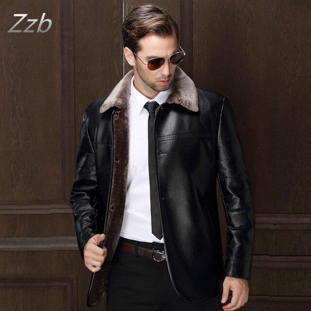 2017 новый зимний мужской толщиной кожа Мех куртка случайные кожи мужские меховые пальто мужской моды мужская кожаная куртка Casaco де couro