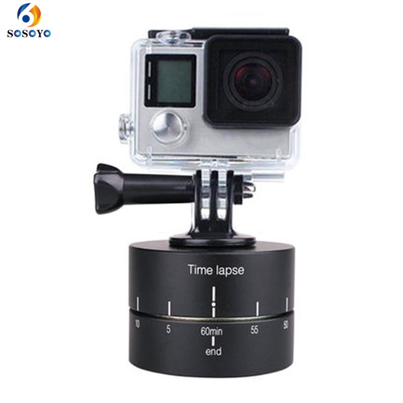 60 min Time Lapse Stabilizer Yuntai Bracket 360 Degree Rotate Stabilizer Base holder For Gopro Hero 6 5 4 3 Camera Accessories