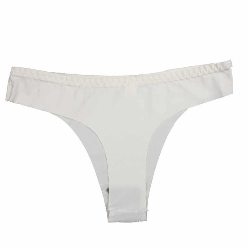 Maillot de bain chaud bandeau Bikinis femmes sous-vêtement invisible string coton Spandex gaz sans couture entrejambe maillot de bain Bikini brésilien