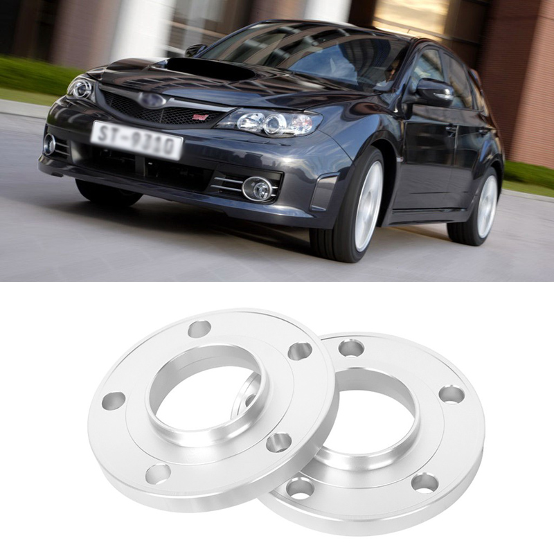 2PCS 5x100 56.1CB Aluminum Centric Wheel Spacers Tire Adapters Rims Flange Hubs For Subaru Series 021bk 5x4 5 to 5x100 forged wheel adapters ksp 4 1 wheel spacers 5x114 3 vehicle to 5x100 wheel changes bolt pattern