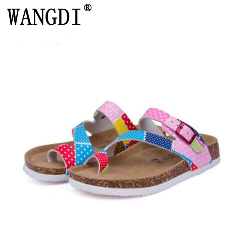 Summer style New Women Sandals Outdoor Casual Flats Solid Cork Slippers Mixed Color Beach Shoes Slides Plus Size 35-43 fashion women slippers flip flops summer beach cork shoes slides girls flats sandals casual shoes mixed colors plus size 35 43