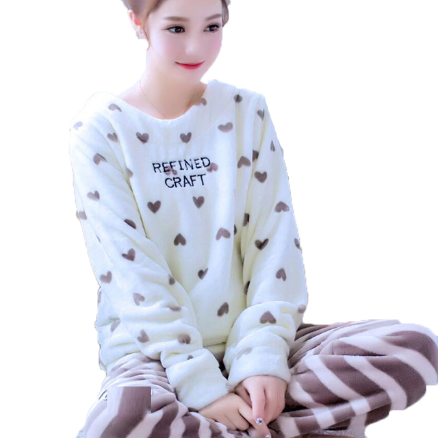 d4cf9c6d95 Women s Sleep   Lounge Pyjama Femme Winter Korean Cute Pijamas Women Pajama  Set Cotton Pajamas Suit Home Wear Female Sleepwear