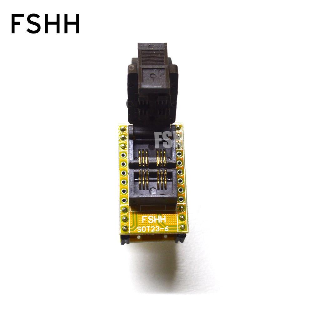 SOT23-5/SOT23-6 Programmer Adapter SOT6 SOT5 Adapter Test Socket SOT23 To DIP6 Test Socket