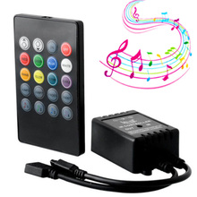 20 tasten Musik Stimme Sensor Controller Sound IR Fernbedienung Praktische Home Party RGB 3528 5050 LED Streifen licht RGB controller