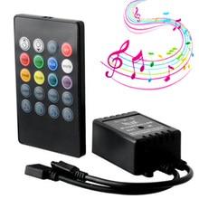 Capteur vocal musical, 20 touches, télécommande son, infrarouge, pratique pour fête à la maison, RGB 3528, 5050, LED, bande de lumière