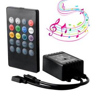 Image 1 - Capteur vocal musical, 20 touches, télécommande son, infrarouge, pratique pour fête à la maison, RGB 3528, 5050, LED, bande de lumière