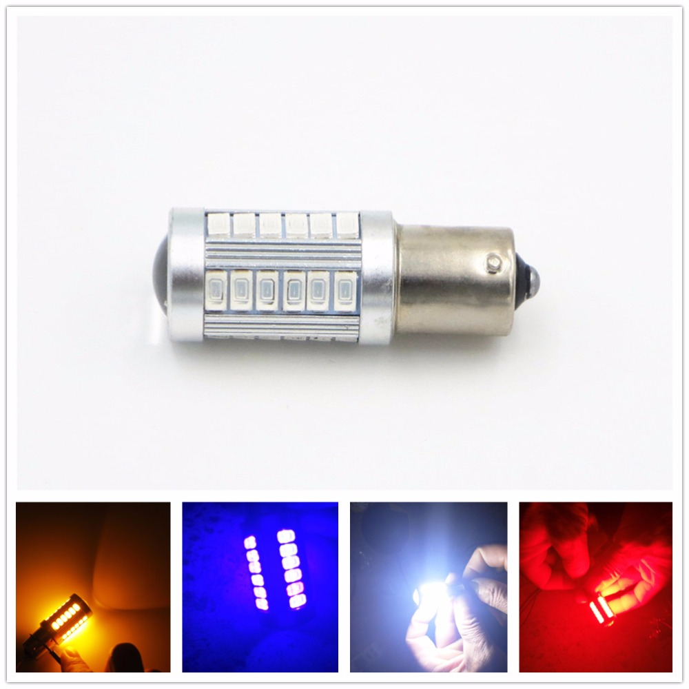 CYAN SOIL BAY White Red Blue Amber Yellow 1156 BA15S 33 SMD 5630 LED Auto Car Vehicle Reverse Tail Light Bulb Turn Signal Lamp cyan soil bay amber yellow orange 1157 bay15d p21 5w 33 5730 33smd led brake turn signal rear light bulb 12v 24v