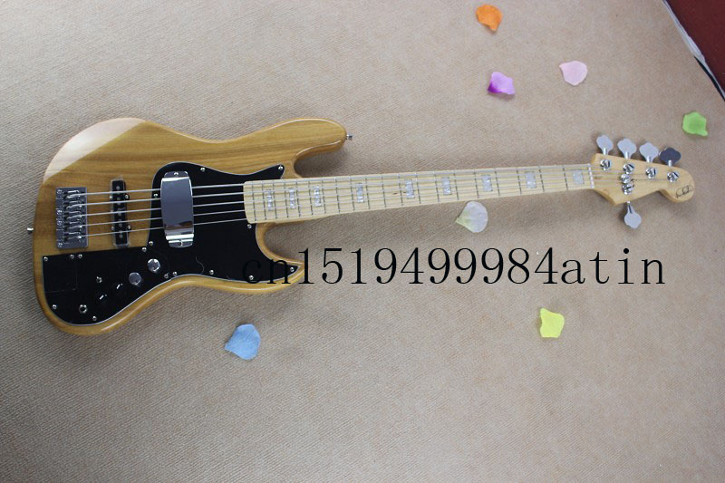 2059free shipping new miller 5 string bass guitar wood color active amplifier circuit electric. Black Bedroom Furniture Sets. Home Design Ideas
