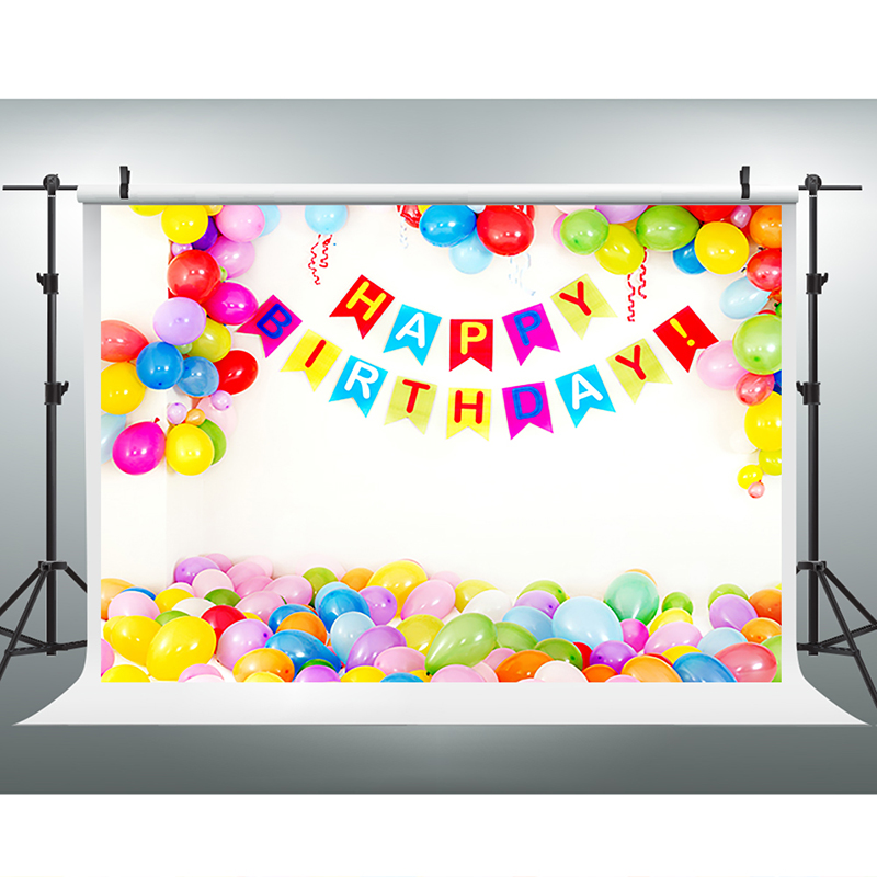 Children Background Color Balloon Photo Booth Backdrop