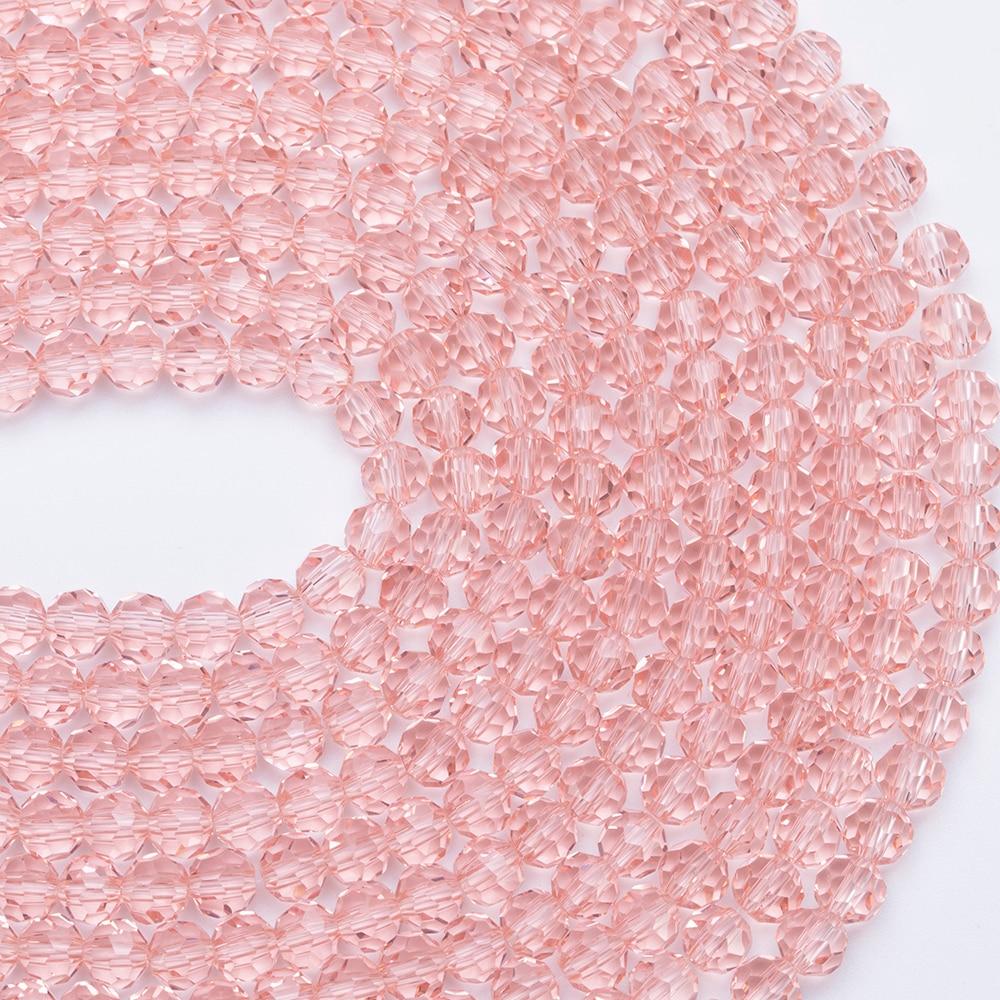 3, 4, 6, 8 мм разноцветные Круглые Стеклянные бусины для изготовления ювелирных изделий, аксессуары для рукоделия, Круглые граненые разделительные бусины, Z105