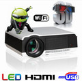 Hot Selling Android4.4 Bluetooth 5500 lumens Native1280X800 Full HD Smart Android LED Digital 3d TV Projector,