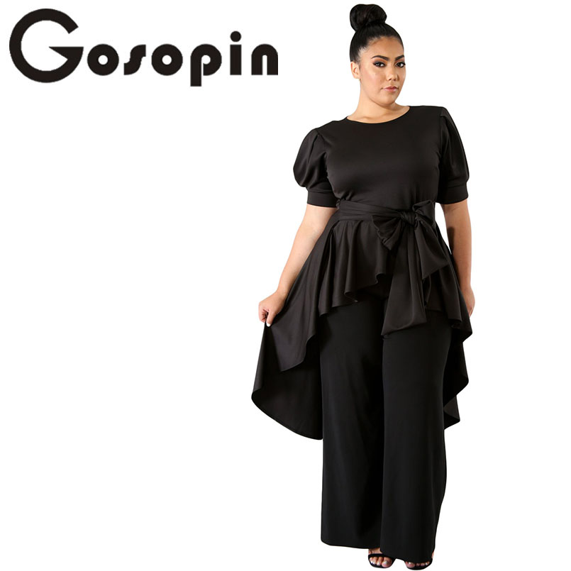 Gosopin Ruffle T Shirt Oversized White Office Lady Top
