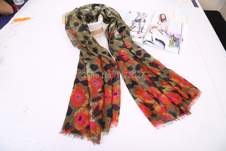 Brand Scarf For Women 2015 New Leopard Grain Spring Scarf