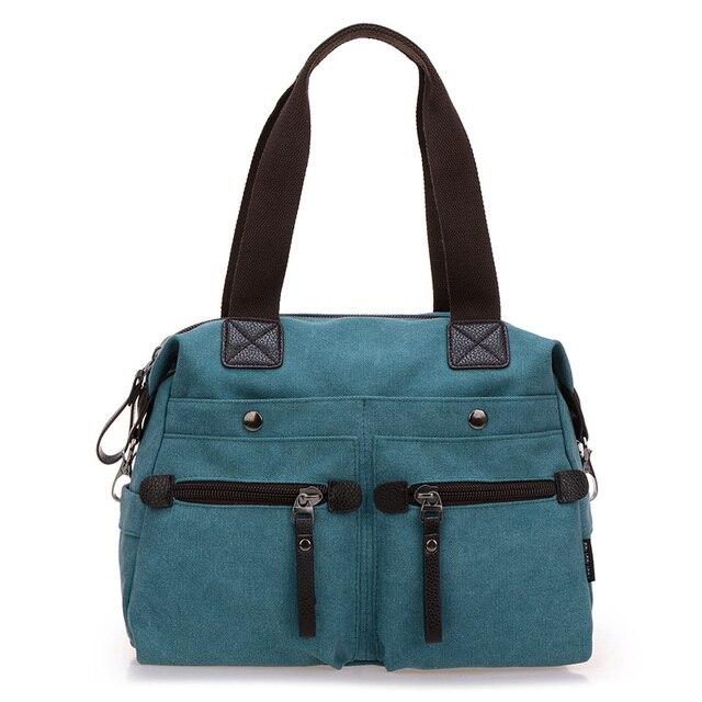 Women Messenger Bag Canvas Shoulder Bag Vintage Tote Sac Female ...