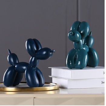 New Fashion Resin Balloon Dog Crafts Sculpture Creative Gifts Modern Simple Home Decorations Statues 8 Colors Desktop Ornament 3
