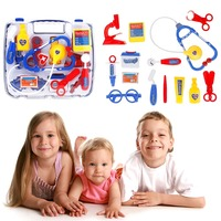 Kids Play House Plastic Pretended Doctor Nurse Play Set Medical Carry Case Toy For Kids Children