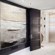 Ручная роспись Абстрактная живопись большая оригинальная картина маслом современное искусство серо-коричневый белый современный дизайн холст